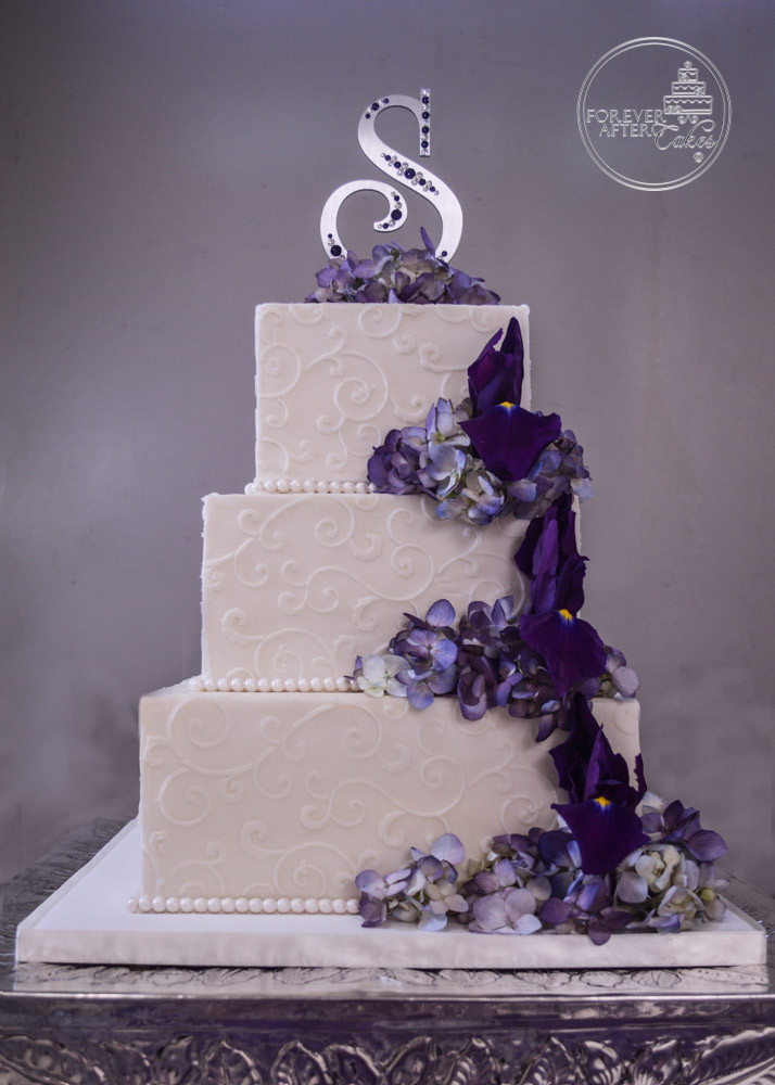 wedding cakes purple and white forever after cakes groom s cakes 25323