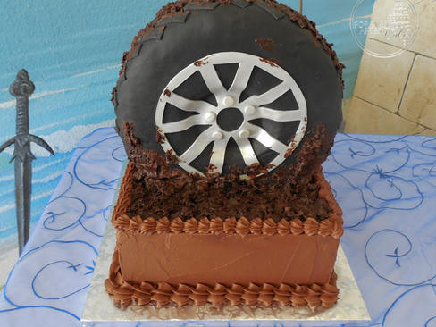 Muddy Tire Groom's Cake