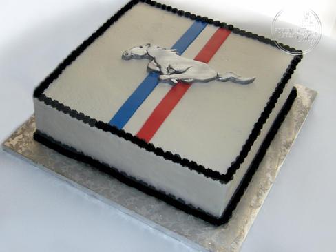 Retro Mustang Groom's Cake