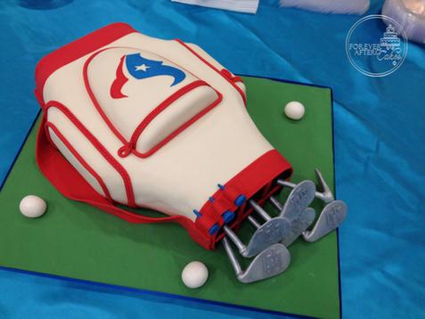 Golf Bag Groom's Cake
