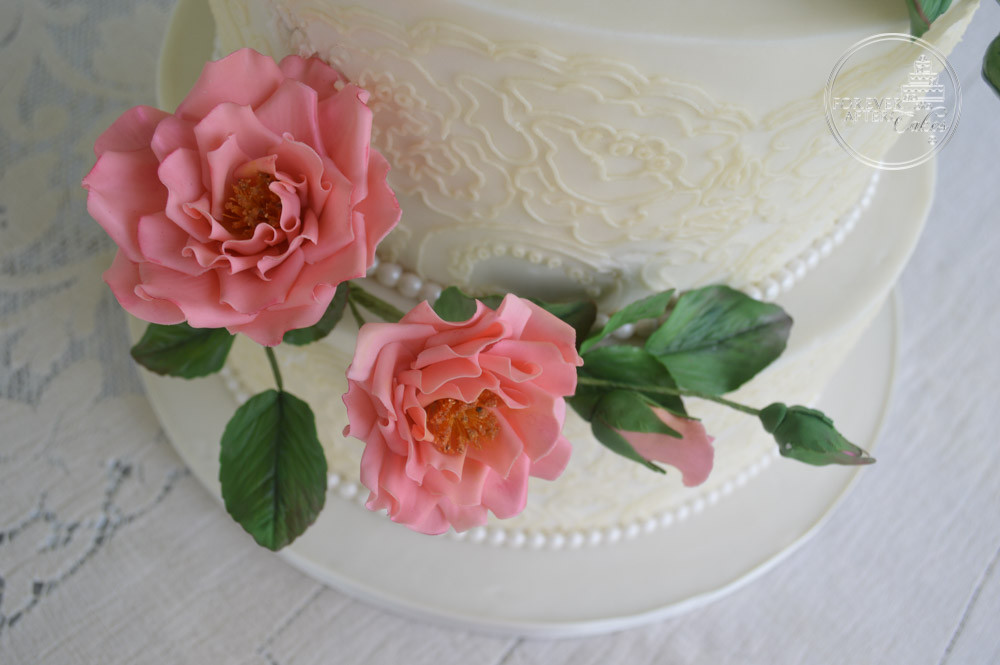 Edible Lace Wedding Cake