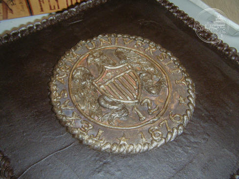 Bronze A&M Seal Groom's Cake