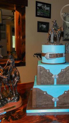 Leather Wedding Cake_