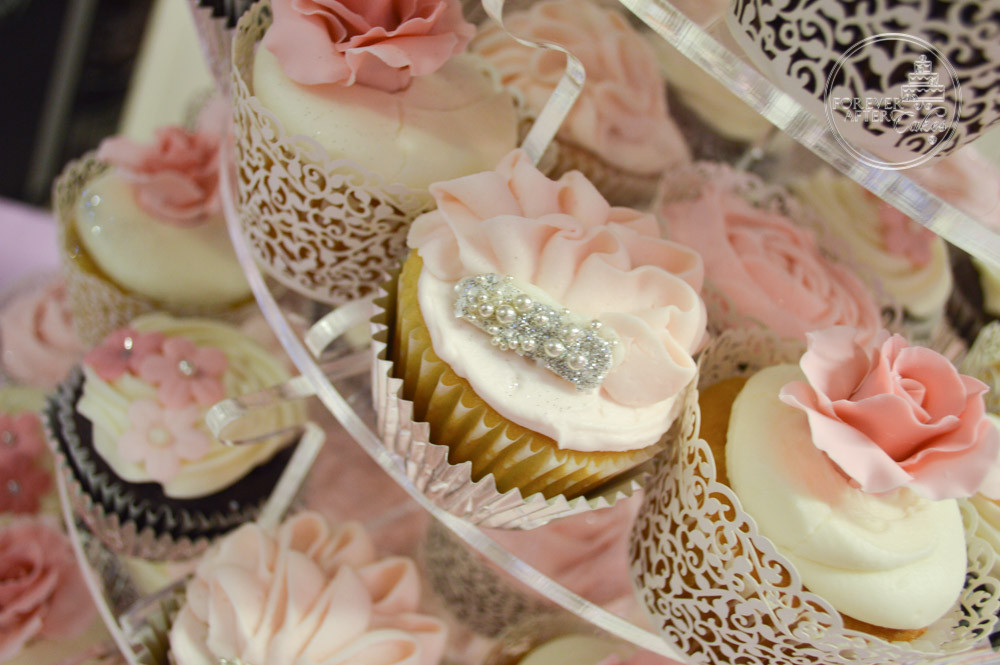 Wedding Cupcakes with Edible Roses, Flowers, Ruffles and Lots of ...