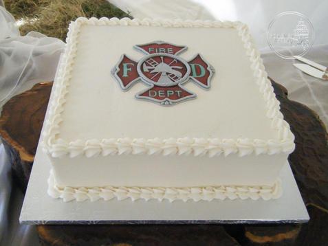 Fire Department Groom's Cake