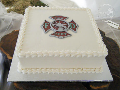 Fire Department Groom's Cake