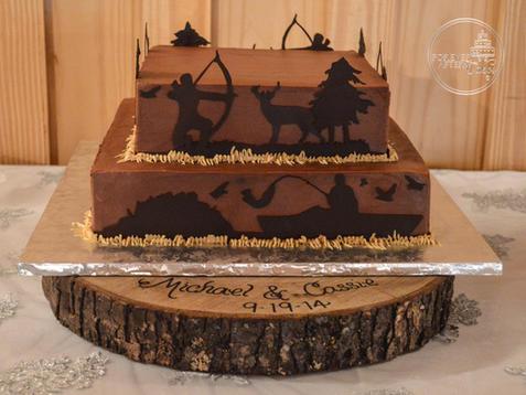 Chocolate Hunting Scene Groom's Cake