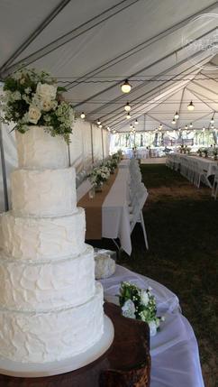 Shabby Chic Wedding Cake Rustic Textured Buttercream