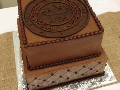 Chocolate Aggie Seal Groom's Cake
