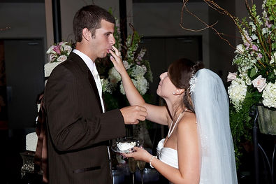 Wedding Cake first bite.