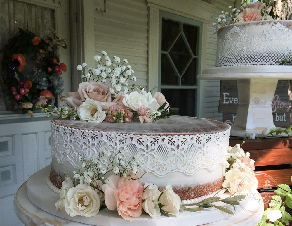 Forever After Cakes Rustic Shabby Chic And Vintage Wedding Cakes - Lace Wedding Cakes