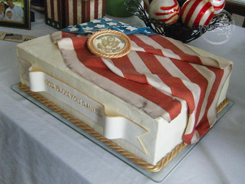 Soldier Farewell Groom's Cake