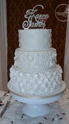 Petals and Flowers Wedding Cake
