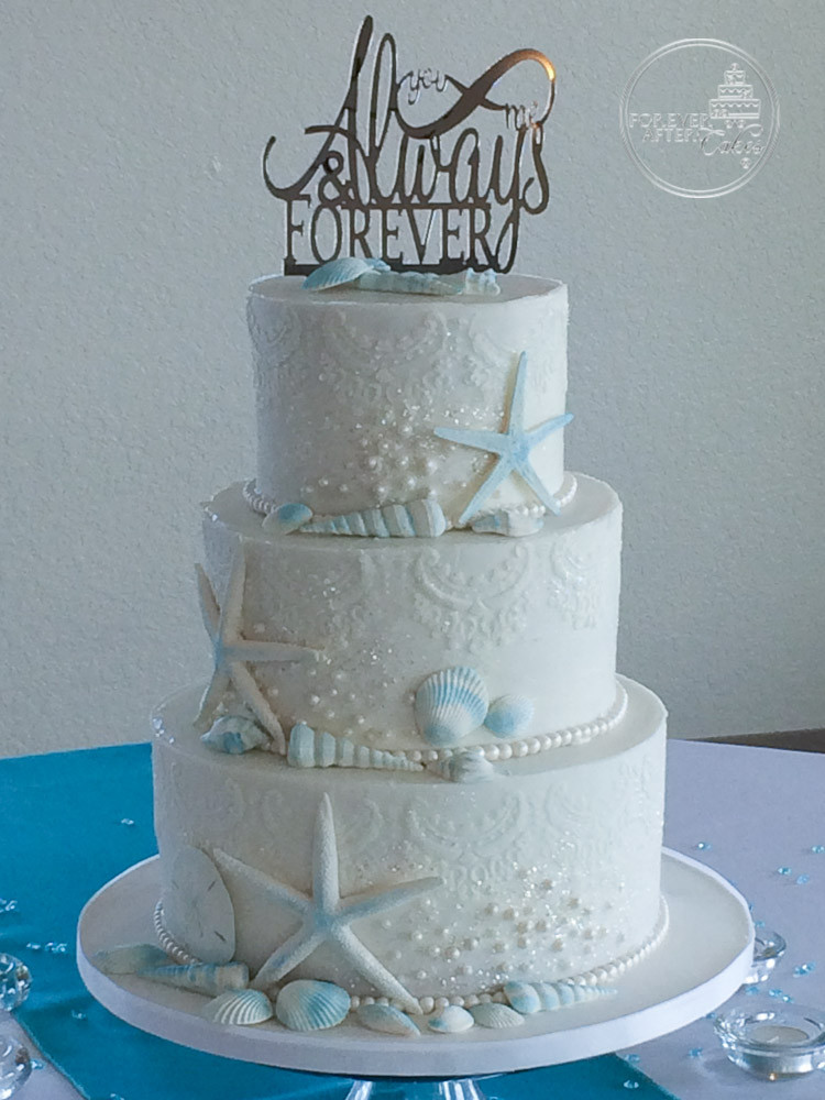 beach wedding cake flavors forever after cakes wedding cakes in the lake 11175