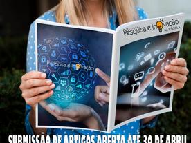 Aberta submissões de artigos para a primeira edição da Revista Pesquisa e Inovação na Escola