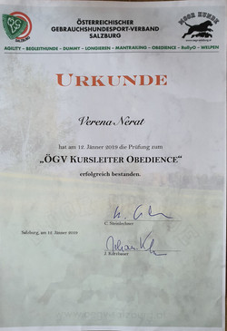 ÖGV Kursleiter Obedience