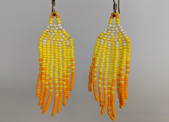 Le'ale'a   Sunny Yellow   Beaded Earrings