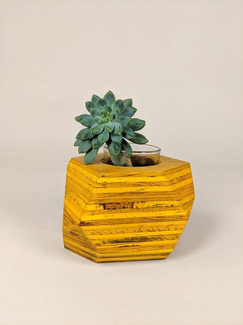 Geo Block | Amber Dyed Plywood