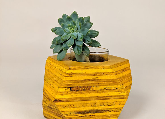 Geo Block   Amber Dyed Plywood