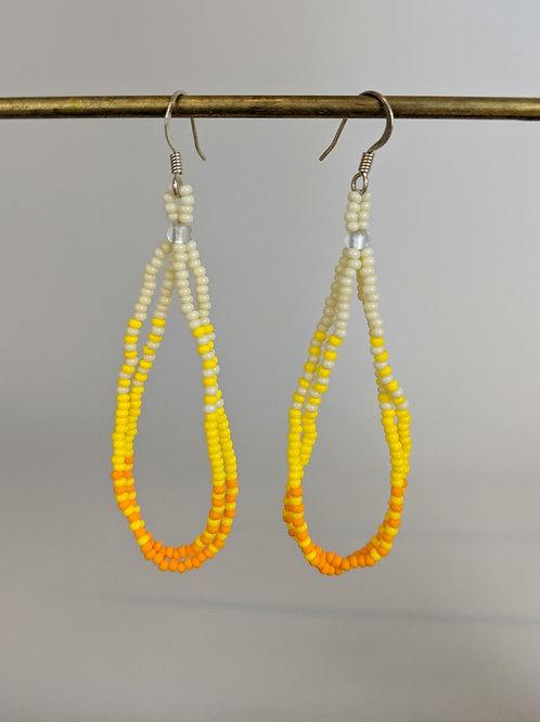 Pālua Drop | Sunny Yellow | Beaded Earrings