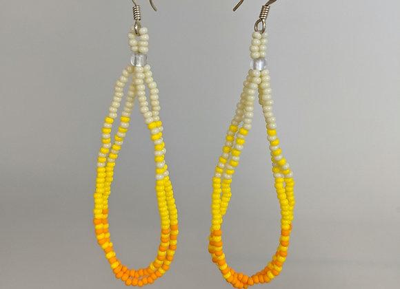 Pālua Drop   Sunny Yellow   Beaded Earrings