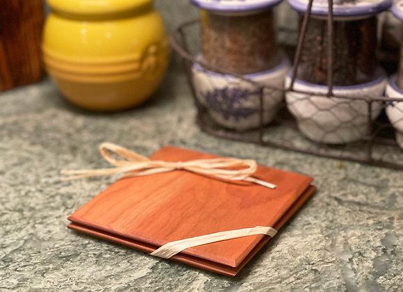 Wood Coasters (2)   Cherry