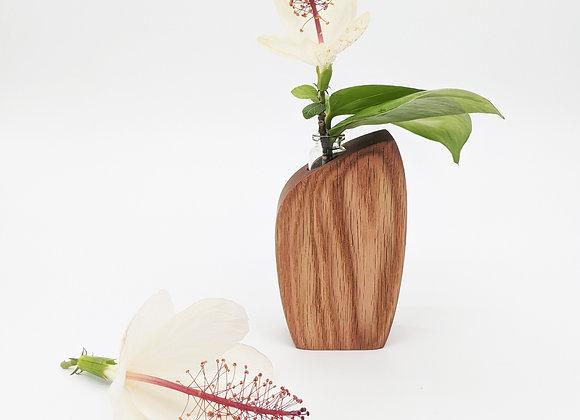 Skini Mini Bud Vase | Blush Dyed Red Oak