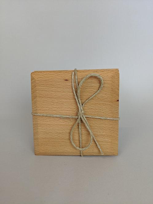 Wood Coasters (4) | Beech