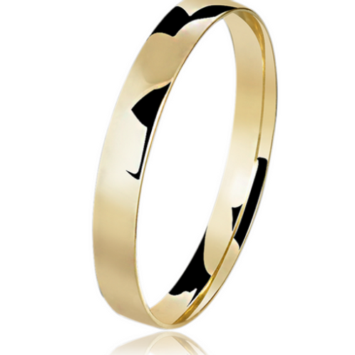 Par de Alianças de Casamento Ouro 18K 3 mm