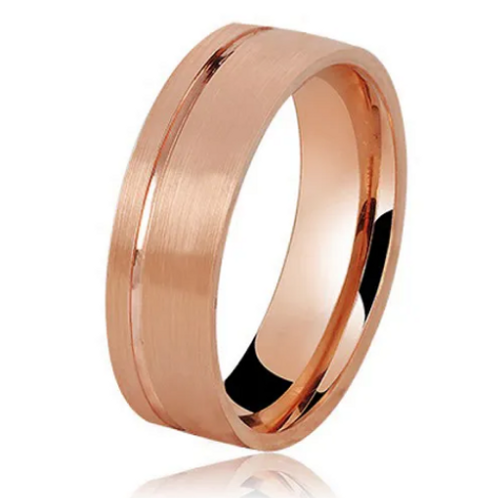 Par de Alianças Trabalhada de Casamento em Ouro 18K Rosé