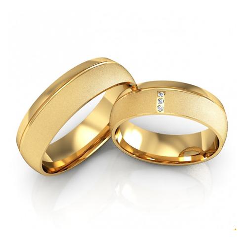 Par de Alianças Casamento Ouro 14K 6mm
