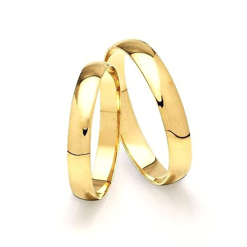 Par de Alianças Casamento Ouro 14K Tradicional 2,8 mm