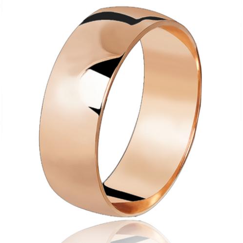 Par de Alianças Tradicional de Casamento em Ouro 18K Rosé