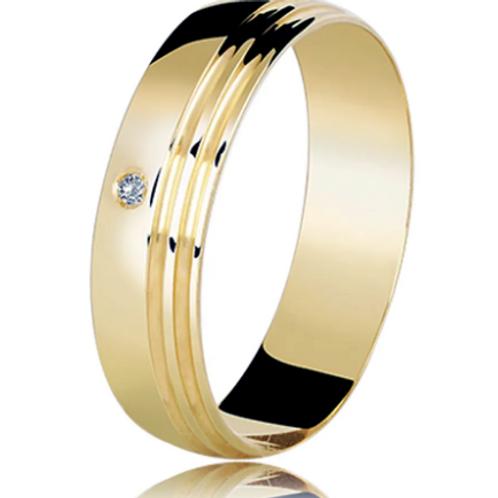 Par de Alianças de Casamento em Ouro 18k com Frisos