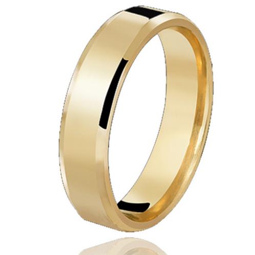 Par de Alianças Italiana de Casamento em Ouro 18K 5 mm