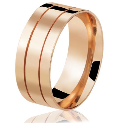 Par de Alianças de Casamento em Ouro 18K Rosé
