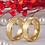 Thumbnail: Par de Alianças Ouro 18K Trabalhada 6 mm