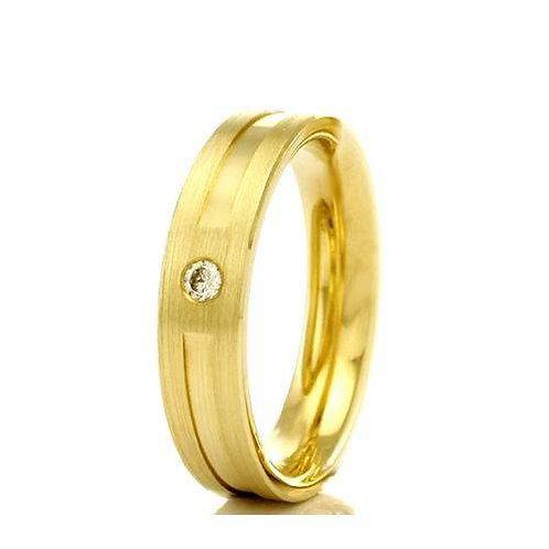 Par de Alianças de Casamento em Ouro 14K Trabalhada 4,5 mm