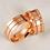 Thumbnail: Par de Alianças de Casamento em Ouro 18K Rosé