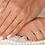 Thumbnail: Par de Alianças Casamento Ouro 18K Trabalhada 3,5 mm