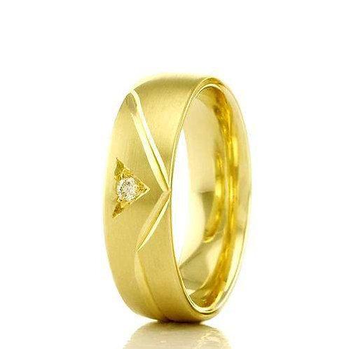 Par de Alianças de Casamento em Ouro 18K Trabalhada