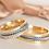 Thumbnail: Par de Alianças de Casamento em Ouro 18K Trabalhado Corda 6 mm