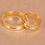 Thumbnail: Par de Alianças de Casamento em Ouro 14K Quadrada com Friso Central