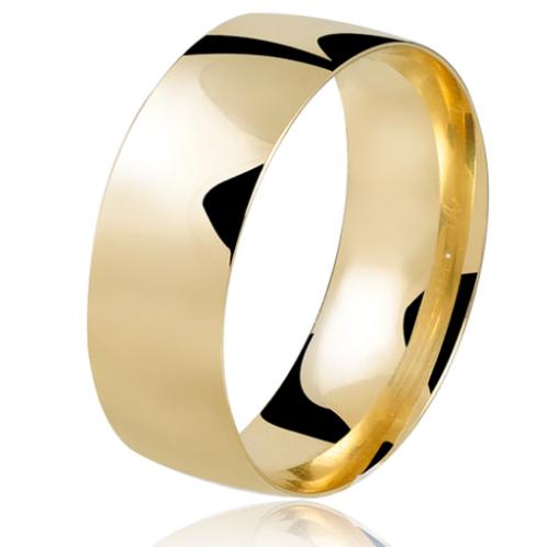 Par de Alianças de Casamento em Ouro 18K Tradicional 7 mm
