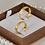 Thumbnail: Par de Alianças Italiana de Casamento em Ouro 18K 5 mm