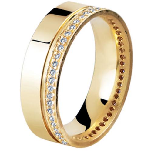 Par de Alianças de Casamento em Ouro 18K Quadrada 6 mm