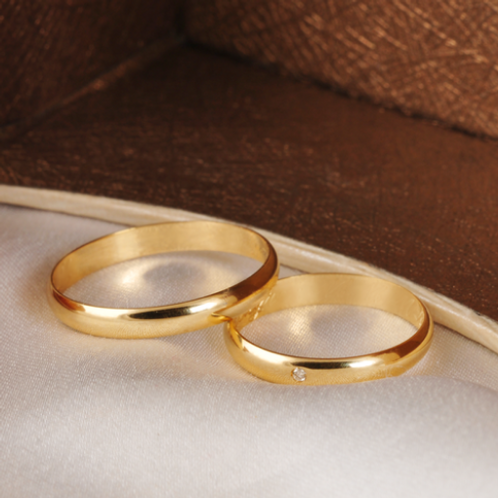 Par de Alianças Casamento Ouro 14K Tradicional 3 mm