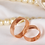 Thumbnail: Par de Alianças Tradicional de Casamento em Ouro 18K Rosé