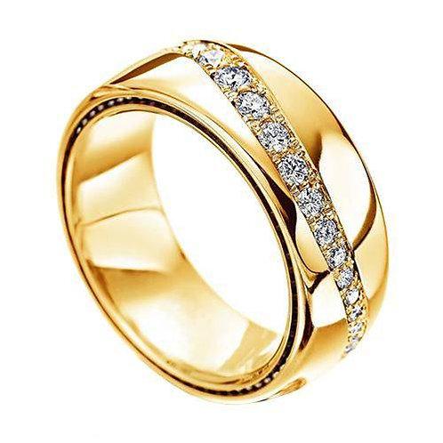 Par de Alianças de Casamento em Ouro 18K Anatômica  7 mm