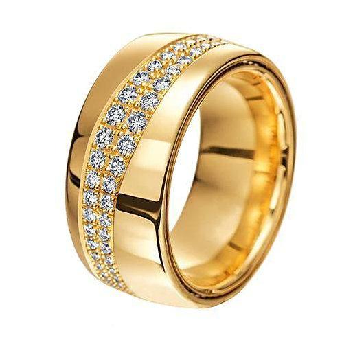 Par de Alianças de Casamento em Ouro 14K Anatômica 7,5 mm